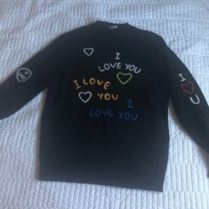 Kenzo I Love You wool knit sweater